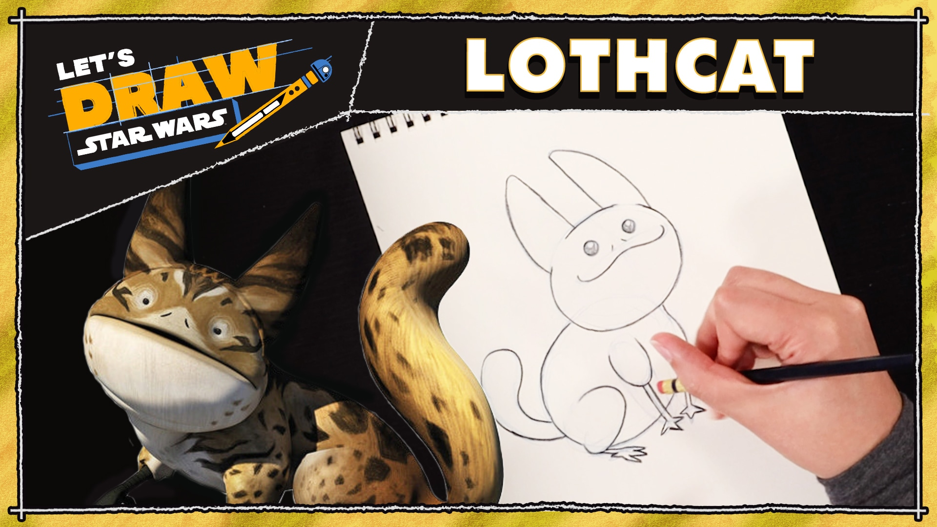 How to Draw a Loth-Cat | Let's Draw Star Wars