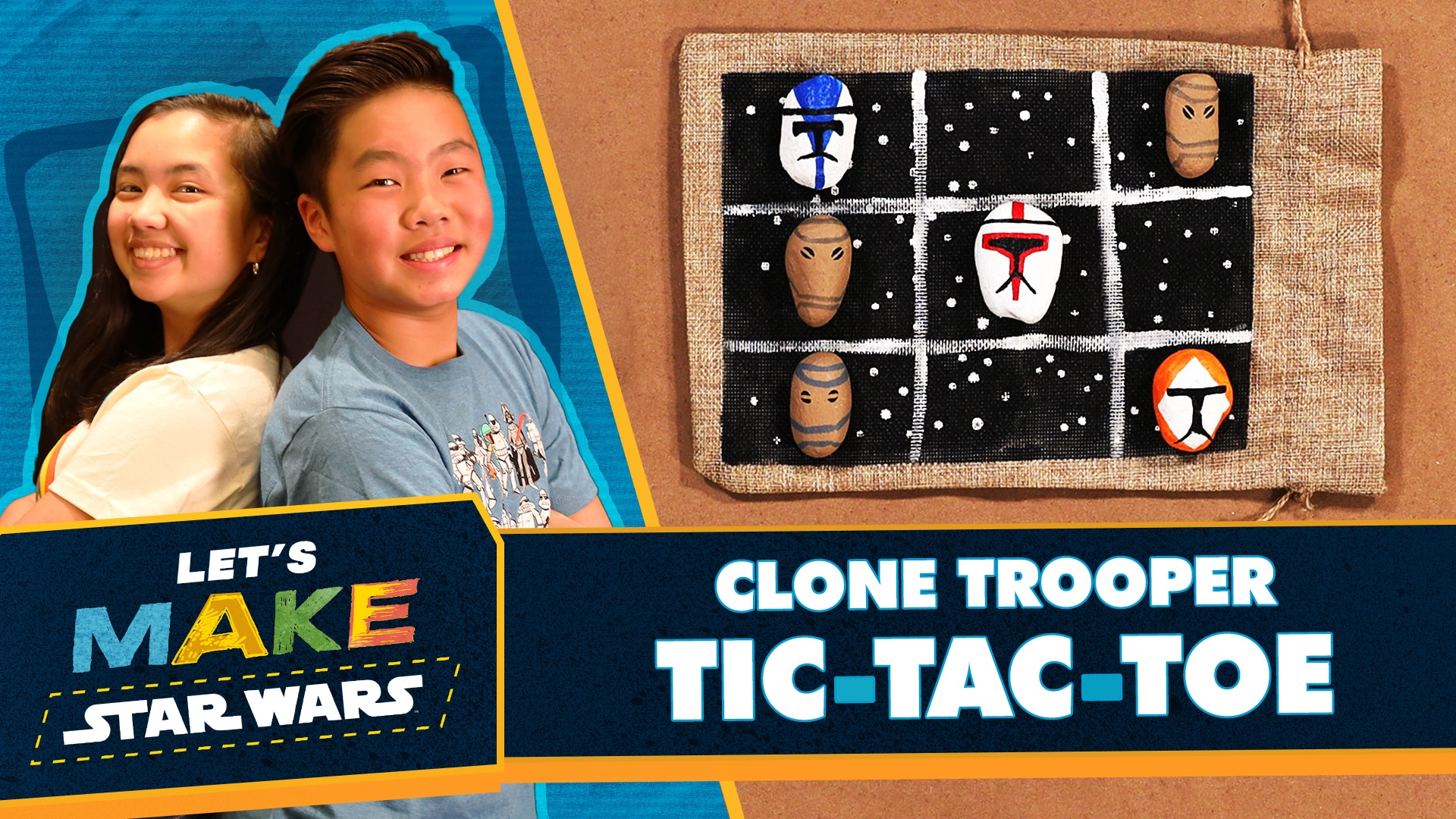 How to Make Star Wars: The Clone Wars Tic Tac Toe | Let's Make Star Wars