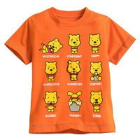 Winnie the Pooh Expressions Tee for Toddler Boys