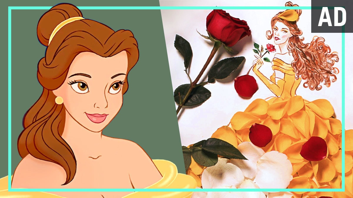 Belle Flower Fashion Illustration | Disney Style