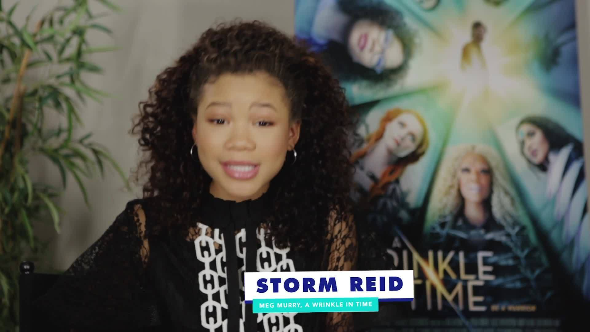 Storm Reid From A Wrinkle in Time Plays the Disney Word Association Game | Oh My Disney Show