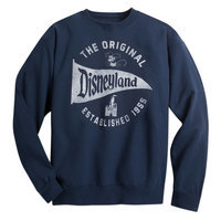 Disneyland Pennant Sweatshirt for Adults - Navy