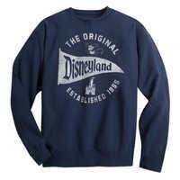 Image of Disneyland Pennant Sweatshirt for Adults - Navy # 1
