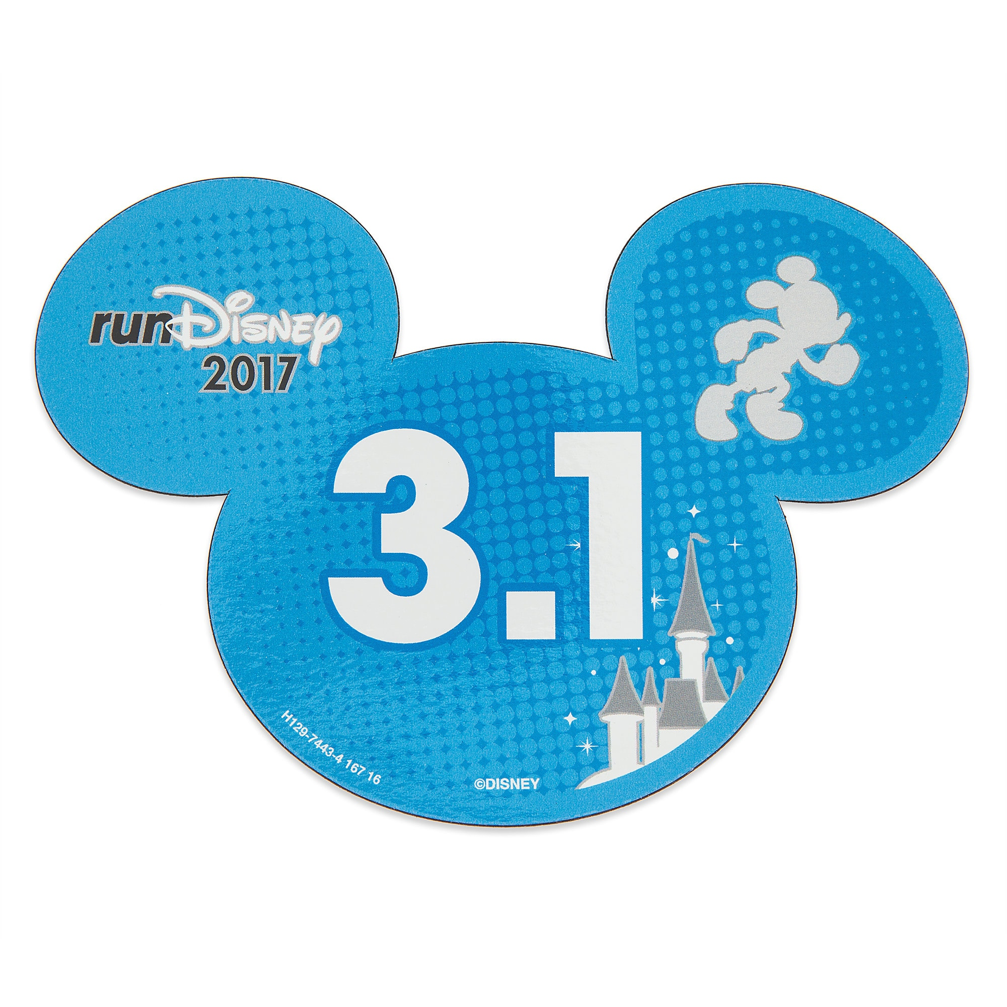 Mickey Mouse runDisney 2017 Magnet - 3.1