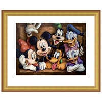 Image of Mickey Mouse ''The Gang'' Giclée by Darren Wilson # 4