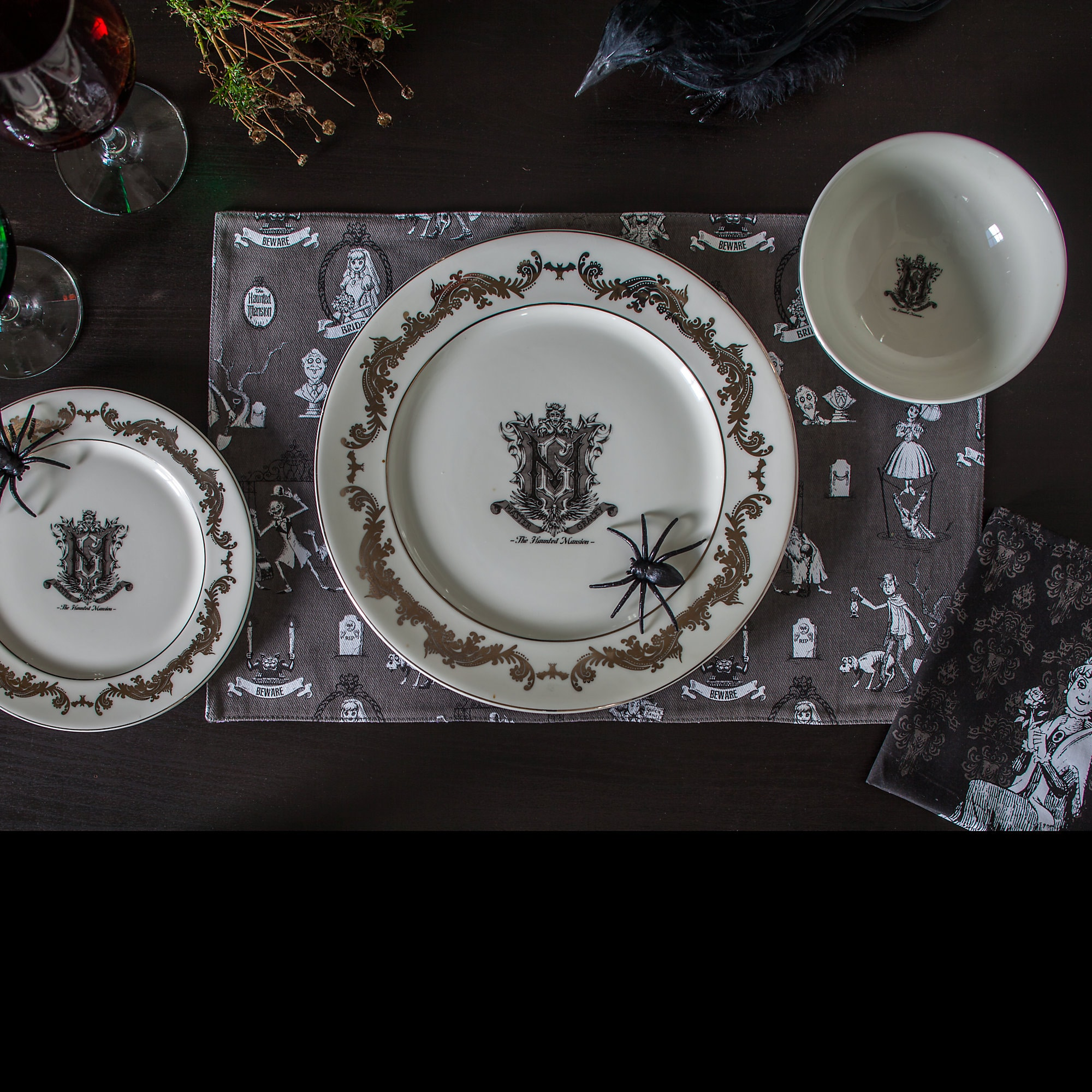 Thumbnail Image of The Haunted Mansion Porcelain Dinner Plate # 2 & The Haunted Mansion Porcelain Dinner Plate | shopDisney
