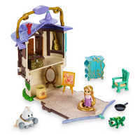 Image of Disney Animators' Collection Littles Rapunzel Micro Doll Play Set - 2'' # 1