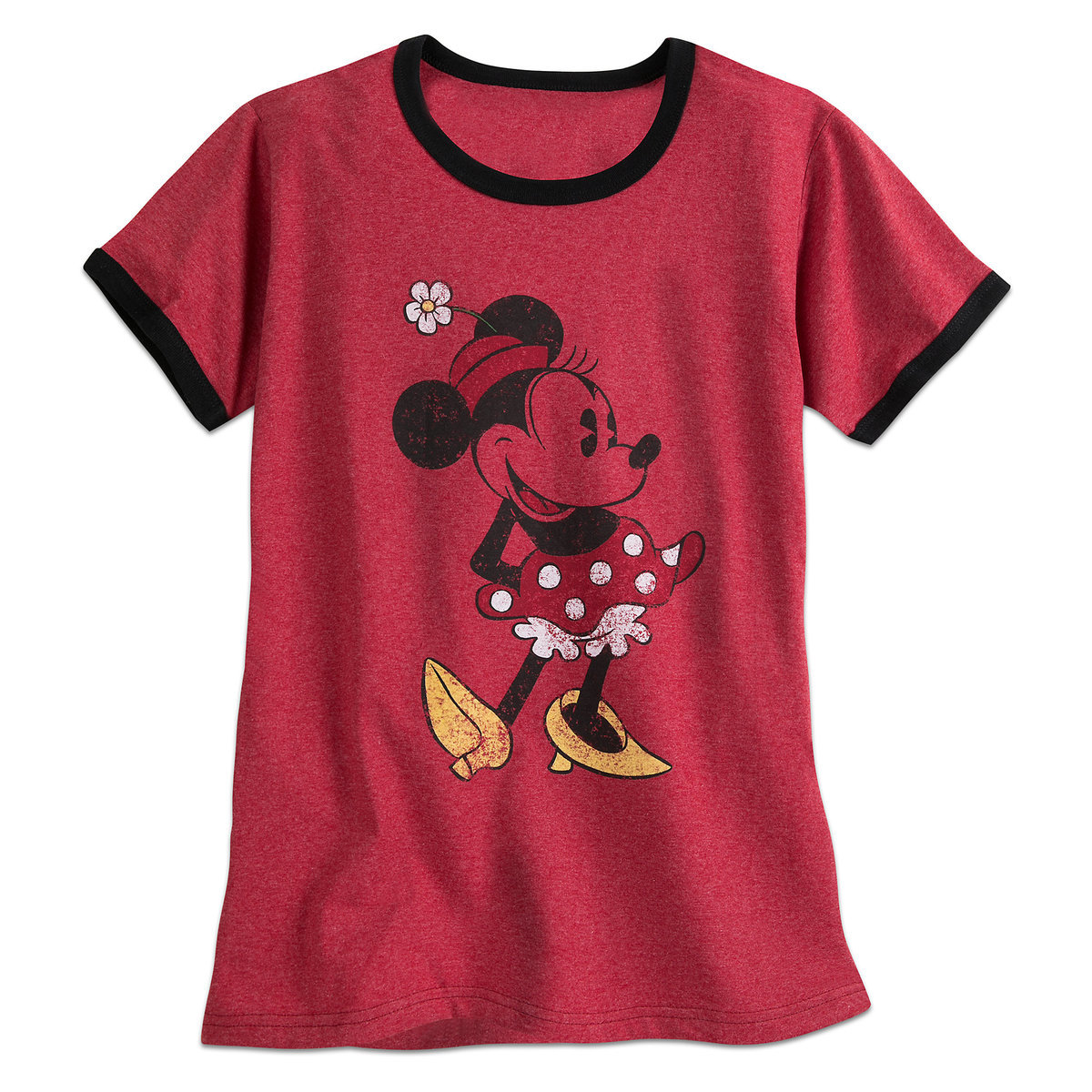 b201e81e Product Image of Minnie Mouse Classic Ringer Tee for Women # 1