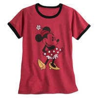 Image of Minnie Mouse Classic Ringer Tee for Women # 1