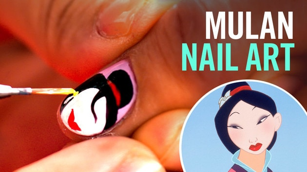 Mulan Nail Art, Two Ways | TIPS by Disney Style