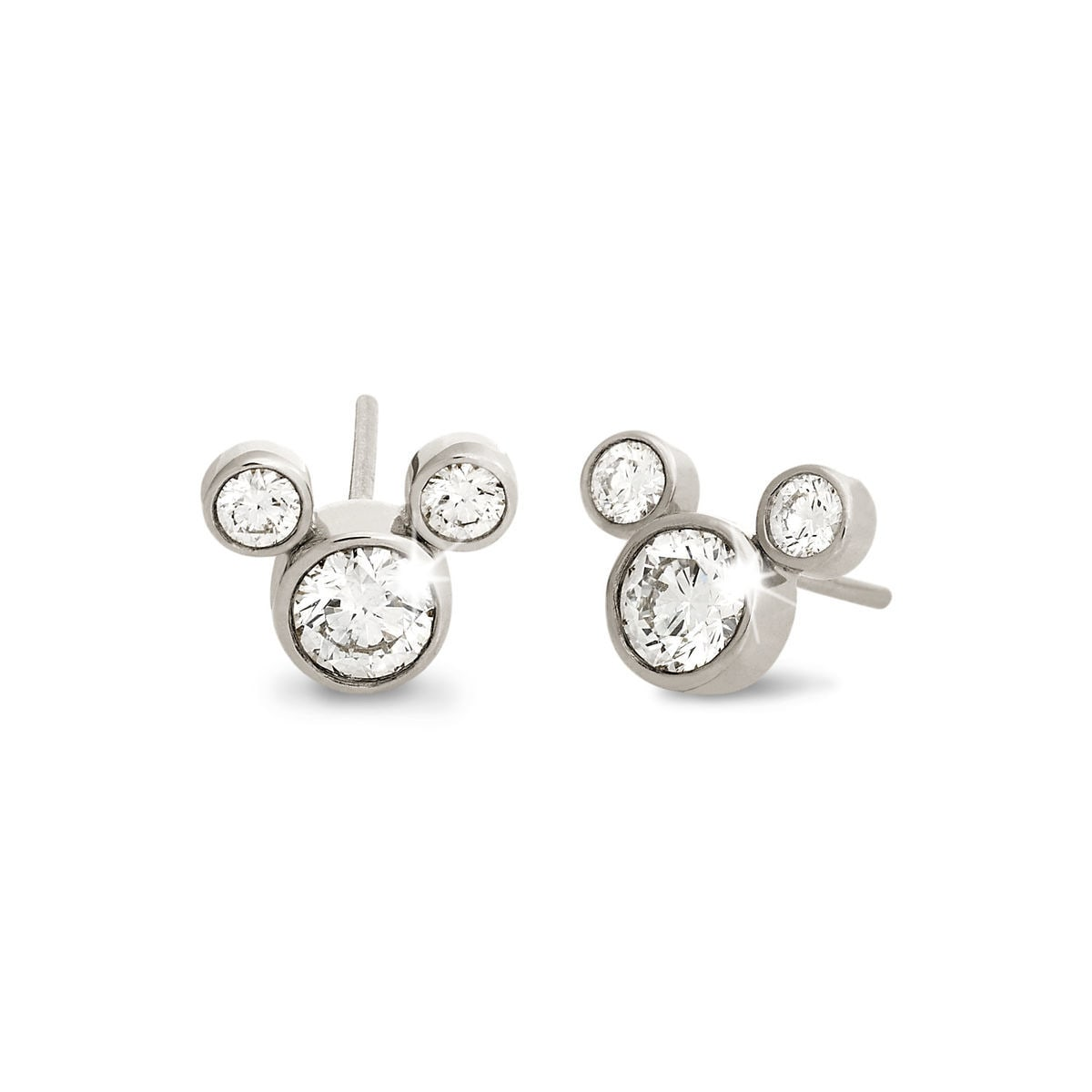 Mickey Mouse Diamond Earrings Large