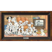 Image of 101 Dalmatians ''Family Movie Night'' Giclée on Canvas by Michelle St.Laurent - Limited Edition # 1