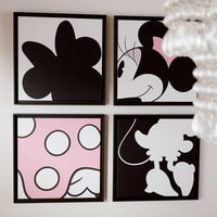 Minnie Mouse ''Minnie Quartet Part I'' Framed Giclée on Canvas by Ethan Allen