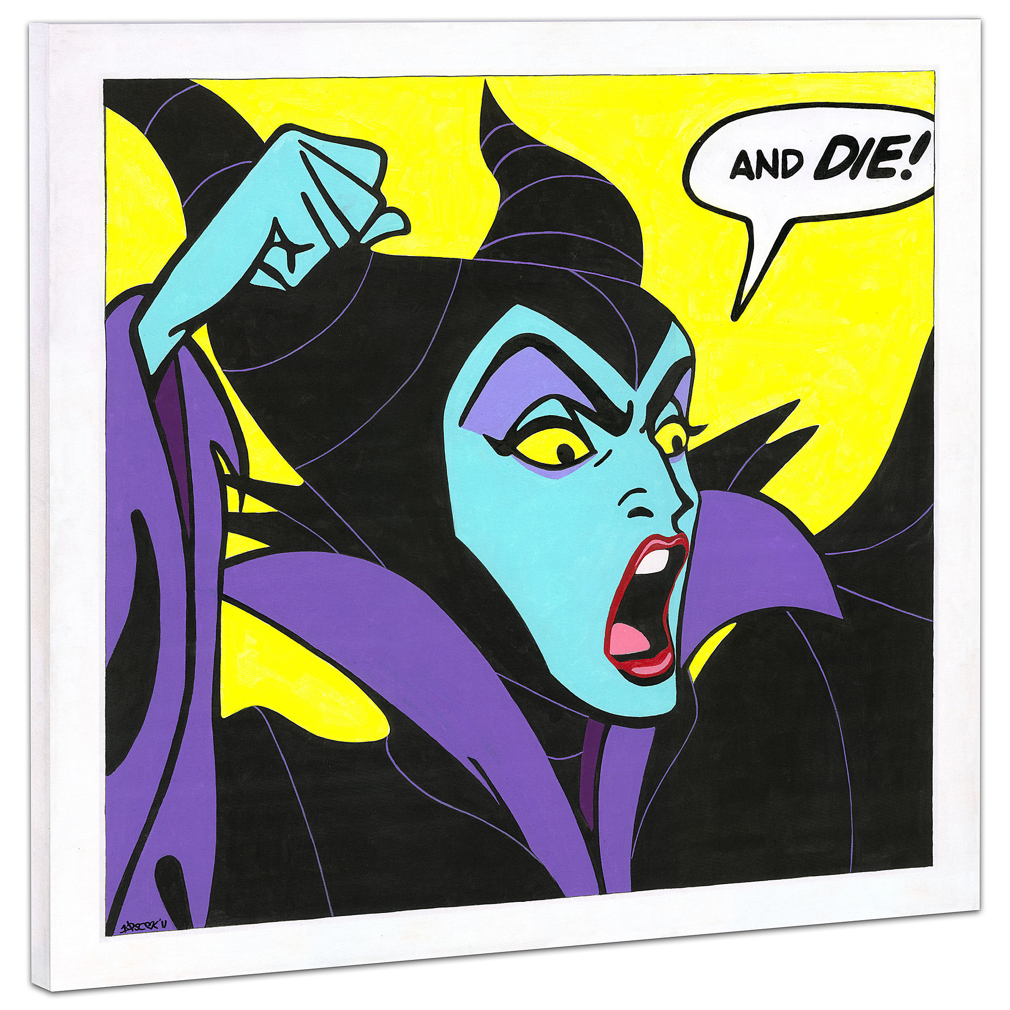 Maleficent Birthday Wishes Giclée on Canvas by Tennessee