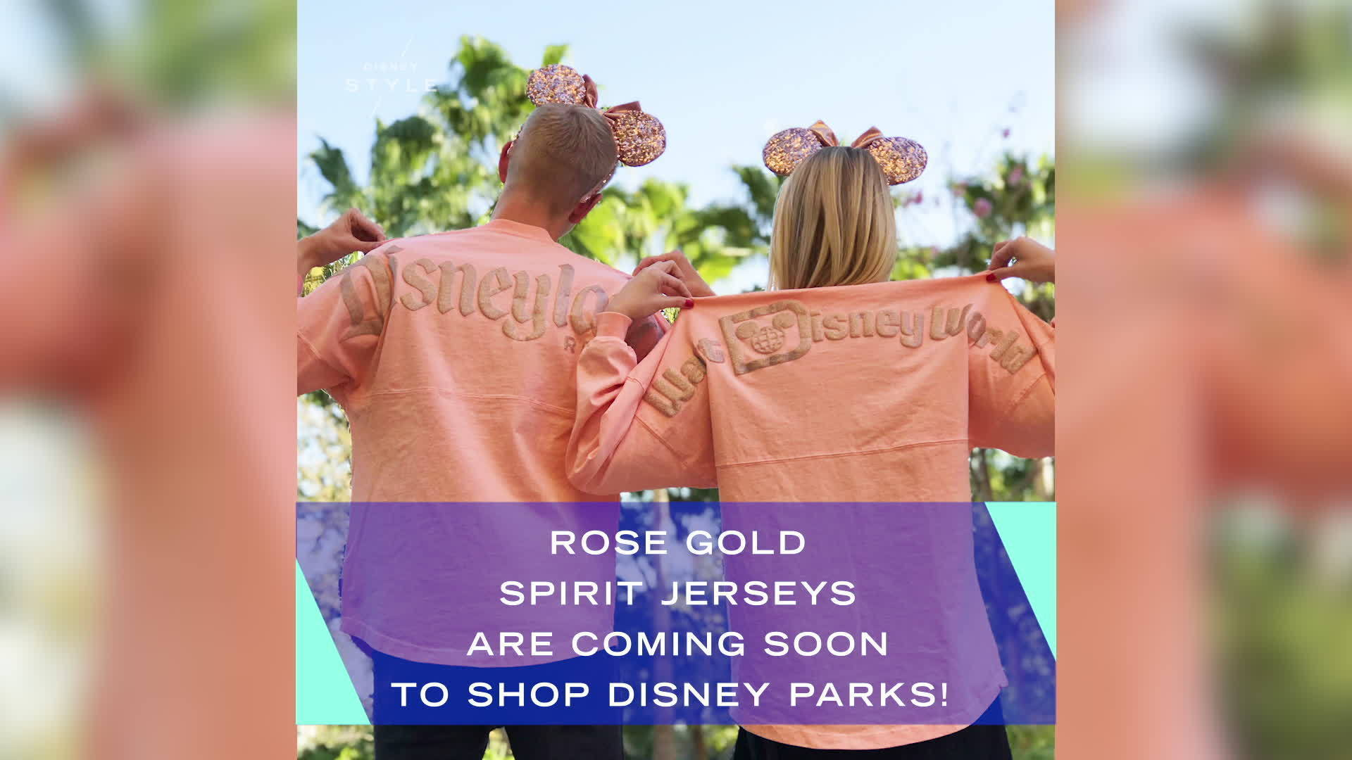 Rose Gold Spirit Jerseys Are Coming Soon to Disney Parks