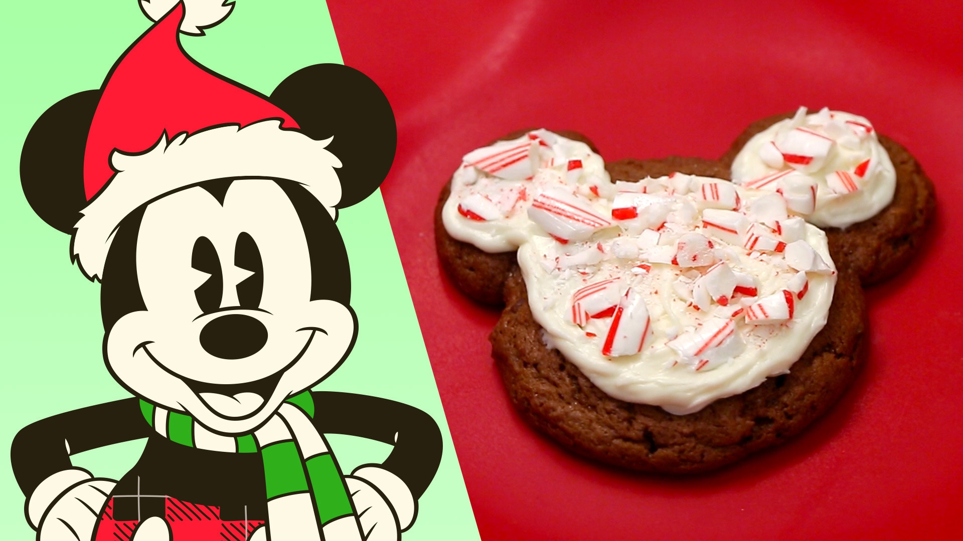 Mickey Mouse Peppermint Cookies | Dishes by Disney