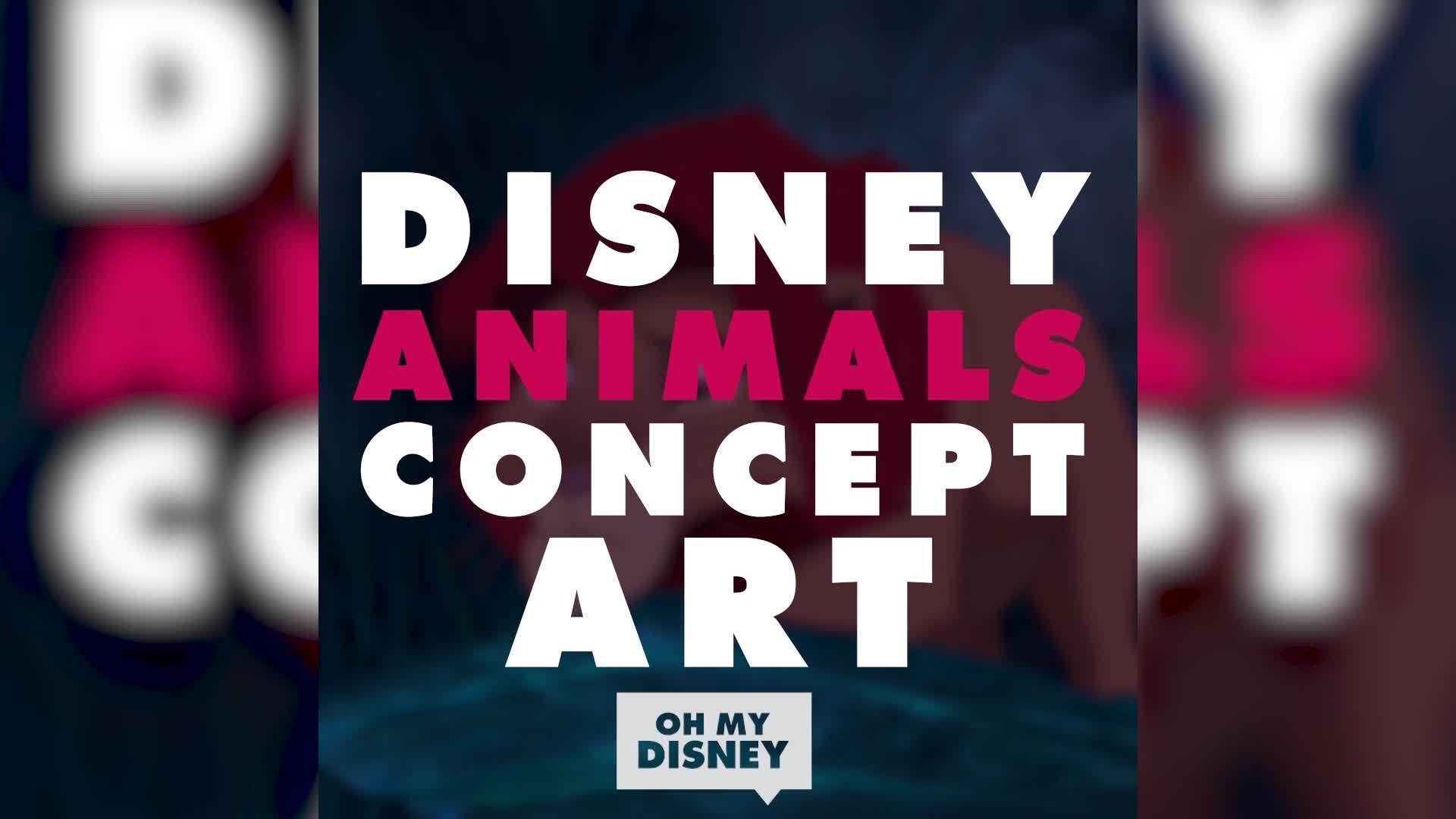 Disney Animals Concept Art | Exclusives by Oh My Disney
