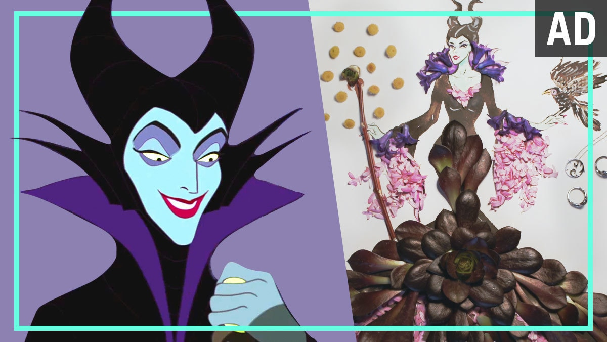 Maleficent Flower Fashion Illustration | Disney Style