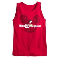 Mickey Mouse with Walt Disney World Logo Tank Tee for Adults - Red