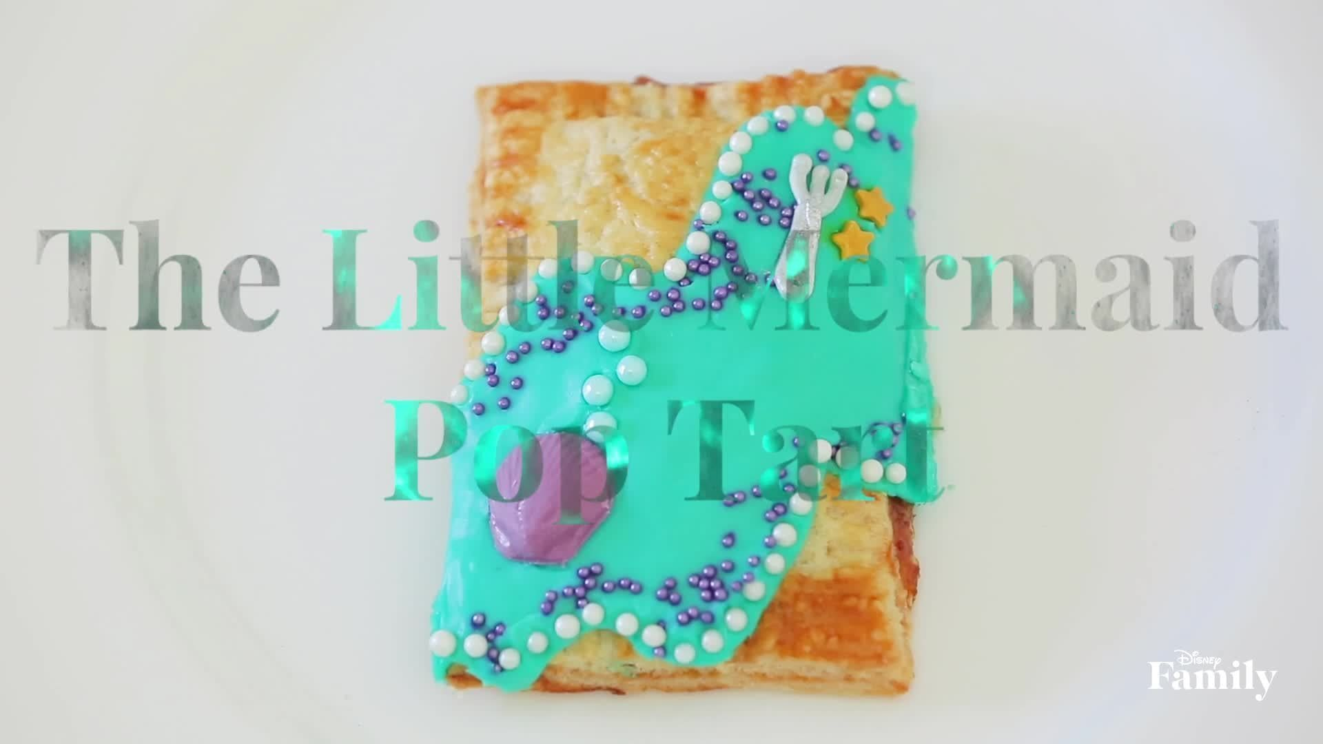 The Little Mermaid Pop Tart | #DisneyWeekend