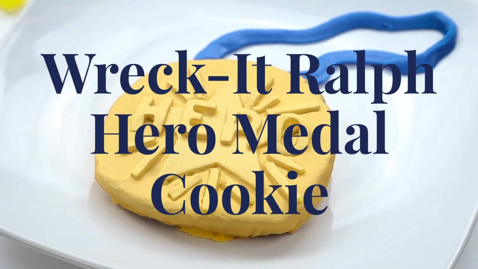 Wreck-It Ralph Hero Medal Cookie | Dishes by Disney