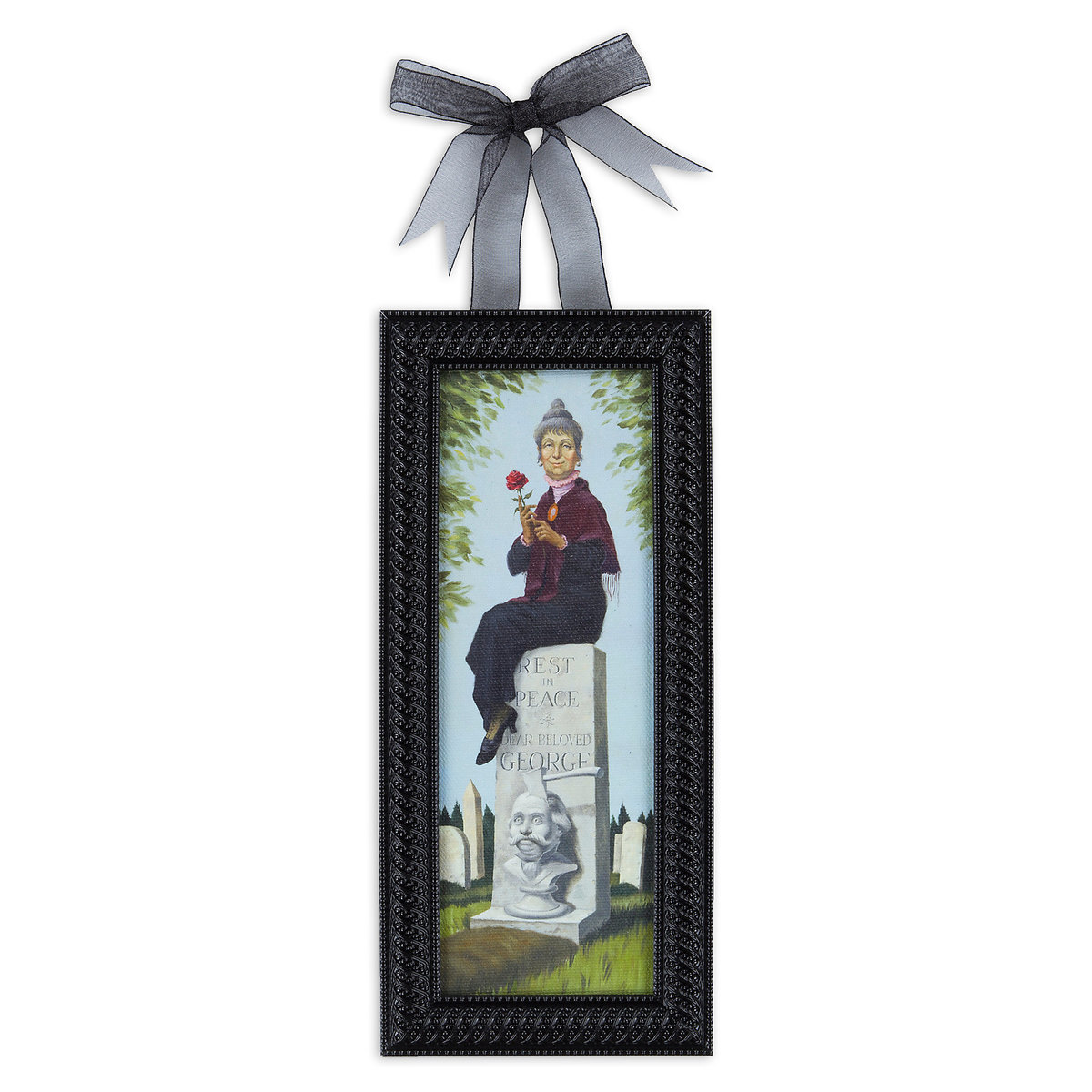 The Haunted Mansion Headstone \'\'Stretch Painting\'\' Framed Giclée on ...
