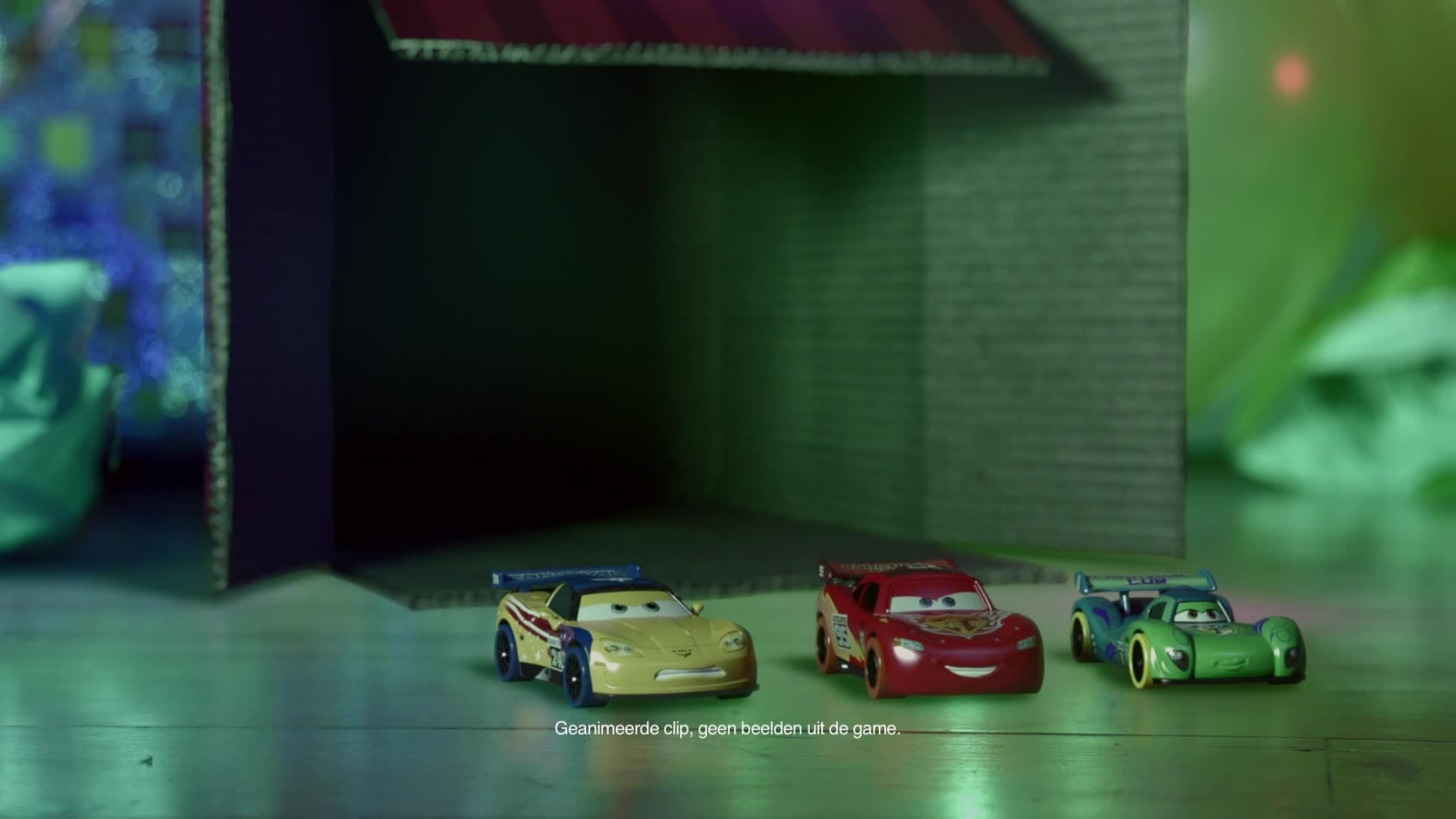 Cars Daredevil Garage - Testrit in de Woonkamer