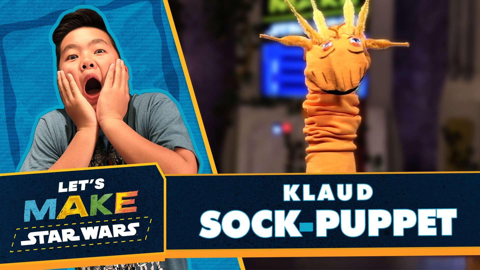 How to Make a Klaud Sock Puppet | Let's Make Star Wars