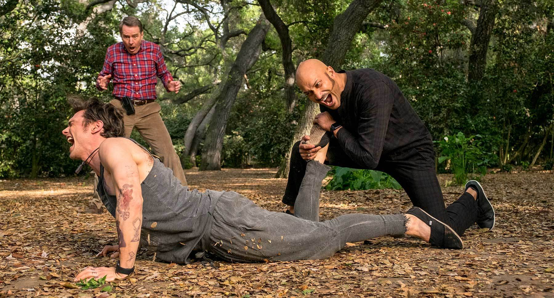 "Bryan Cranston, James Franco, and Keegan-Michael Key in ""Why Him?"""