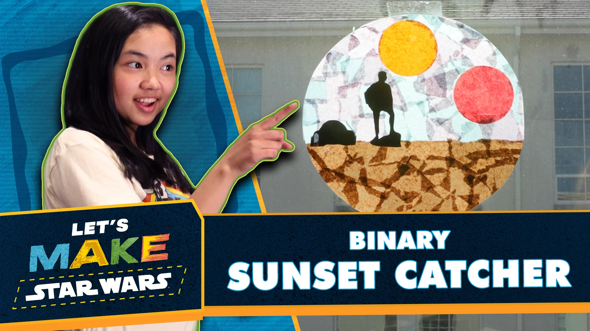How to Make a Binary Sunset Catcher | Let's Make Star Wars