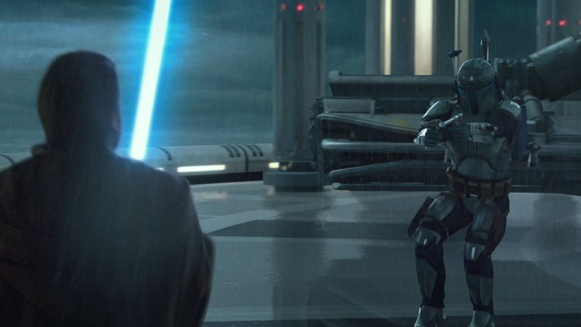 Jango és Obi-Wan harca