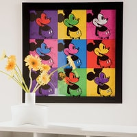 Mickey Mouse ''Pop Art Mickey'' Framed Silkscreen on Archival Paper by Ethan Allen - Limited Edition