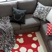Mickey Mouse Nailhead Pillow by Ethan Allen