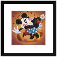Image of ''Mickey and Minnie Kissing'' Giclée by Michelle St.Laurent # 2