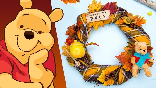 Winnie the Pooh Fall Wreath | Disney DIY | Disney Family