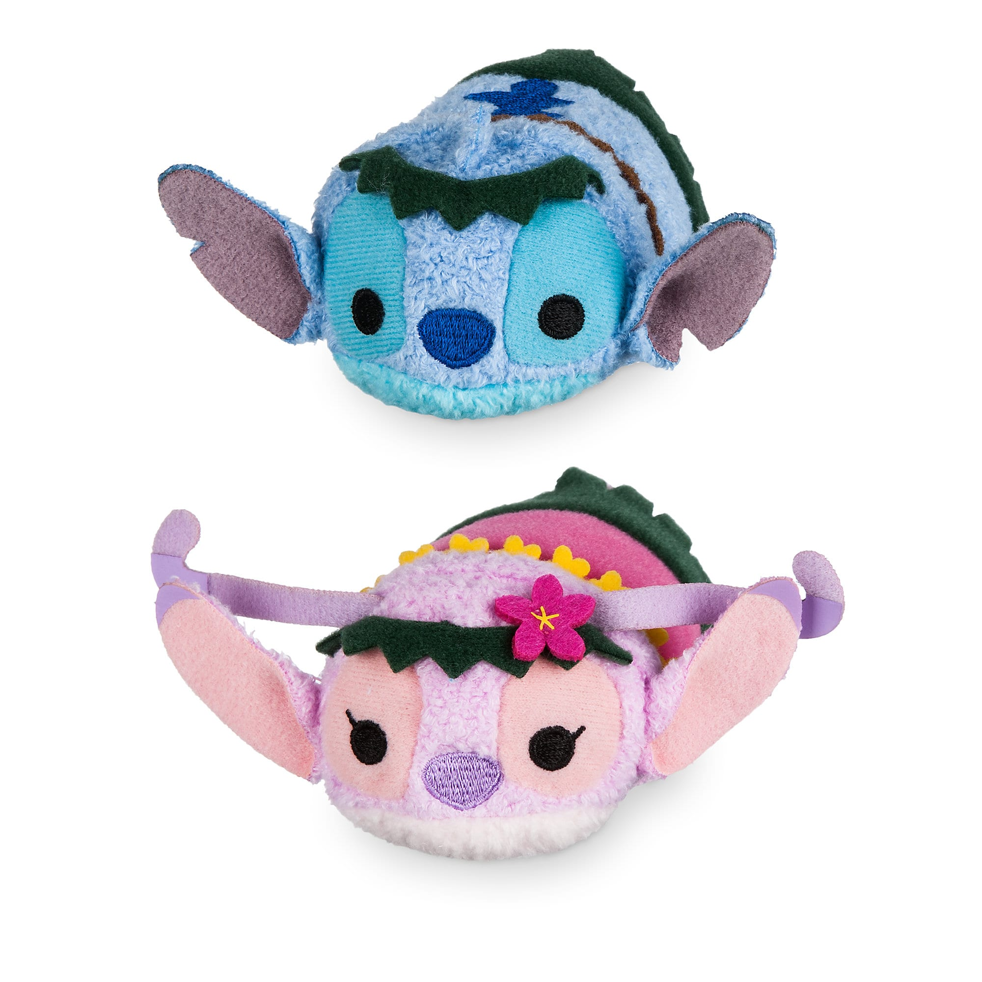 Stitch and Angel ''Tsum Tsum'' Plush Hawaiian Set - Mini 3 1/2''
