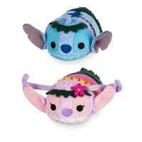 Image of Stitch and Angel ''Tsum Tsum'' Plush Hawaiian Set - Mini 3 1/2'' # 1