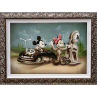Image of Mickey Mouse and Minnie ''Service with a Smile'' Giclée by Noah # 2