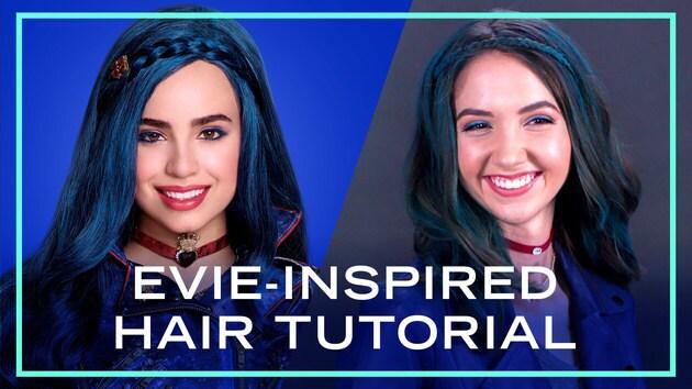 Evie-Inspired Hair Tutorial from Descendants 2 | Disney Style