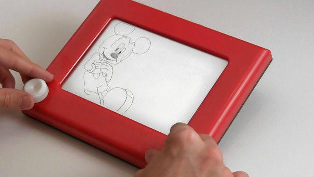Etch-a-Sketch Mickey
