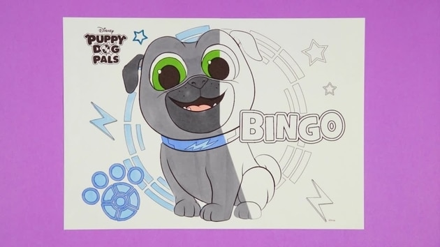 Puppy Dog Pals - Bingo | Disney Junior Colouring Club