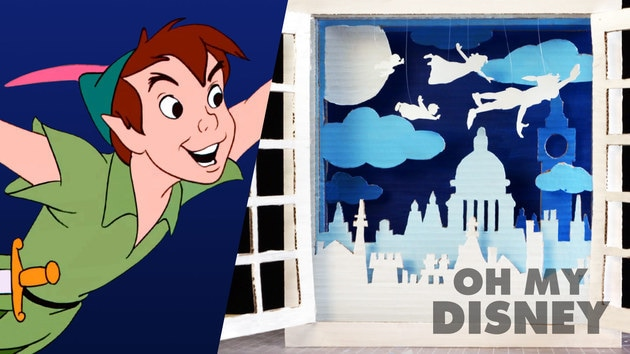 Peter Pan Cardboard Shadow Box Art | Sketchbook by Oh My Disney