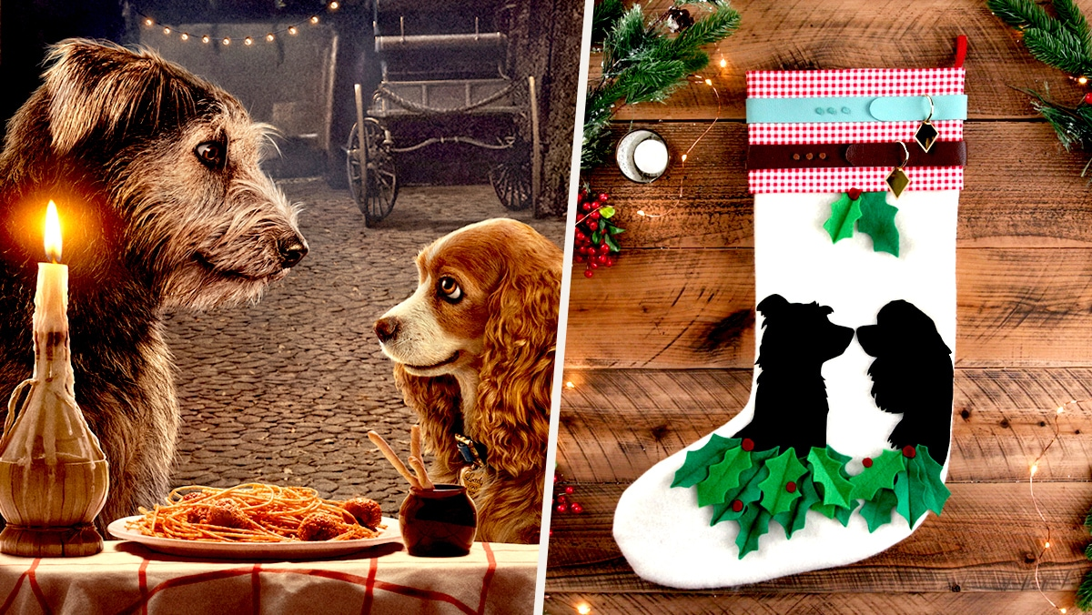 Lady and the Tramp Holiday Stocking | Disney DIY by Disney Family