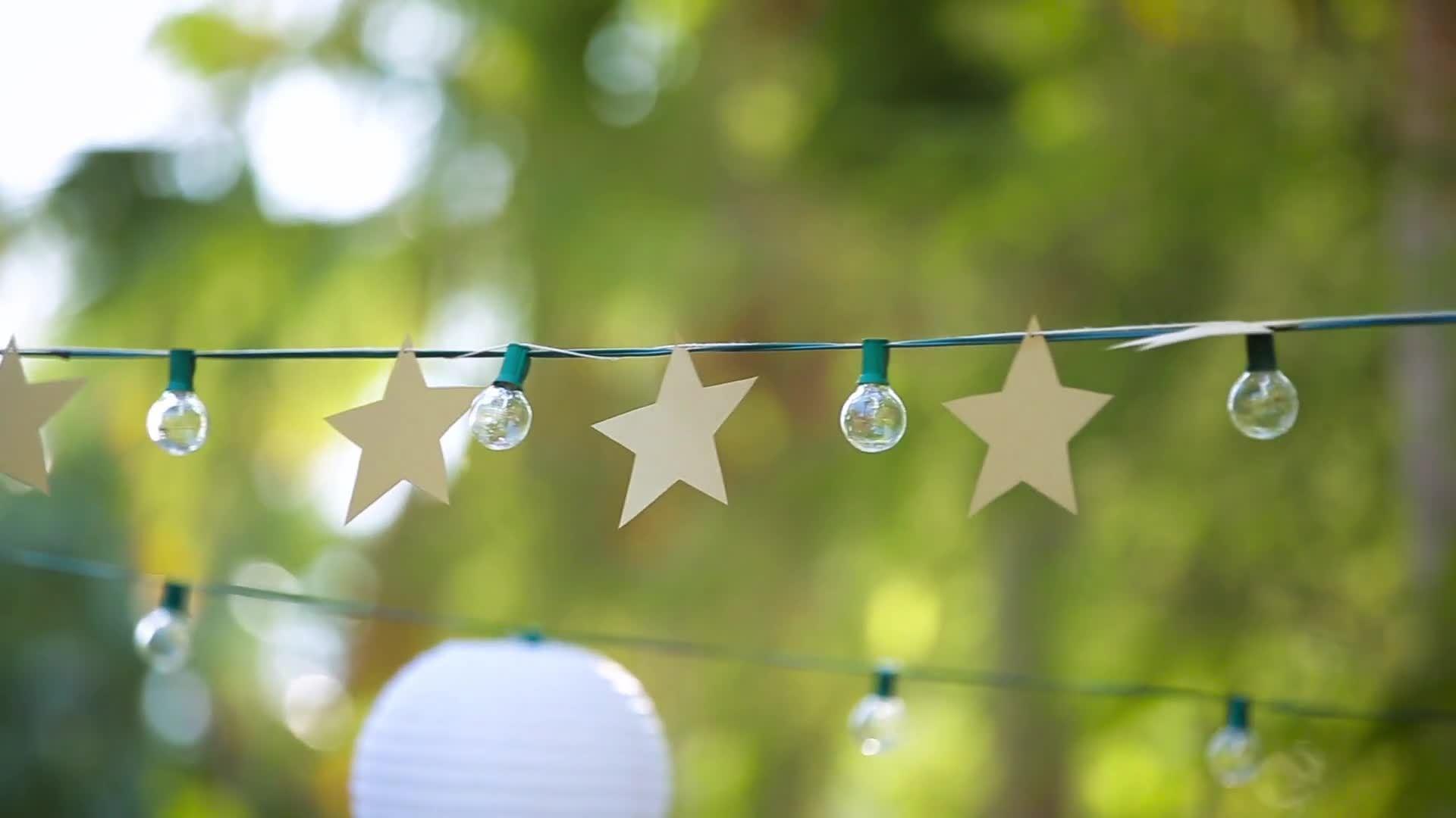 Wish Upon A Star Garland DIY