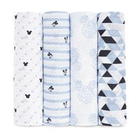 Mickey Mouse Muslin Swaddles Set by aden by aden + anais®