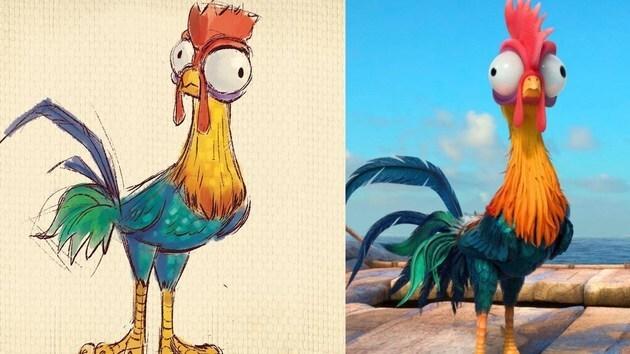 How to Draw Heihei from Disney's Moana   Quick Draw