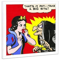 Snow White ''Respect Your Elders'' Giclée on Canvas by Tennessee Loveless