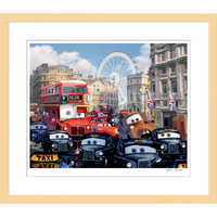 Image of Cars 2 ''Rush Hour Chase''  Framed Giclée on Paper by Harley Jessup - Limited Edition # 1