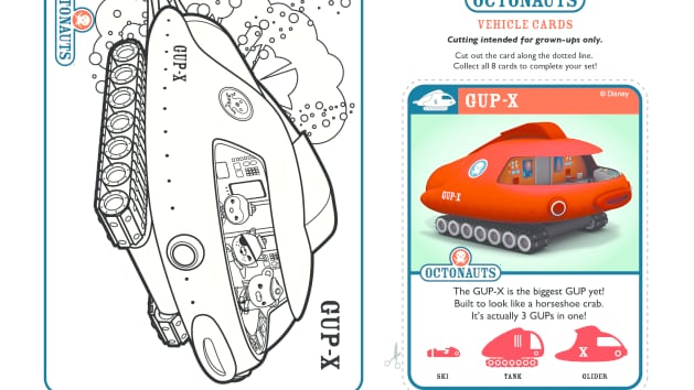 Gup x coloring page coloring page for Disney junior octonauts coloring pages