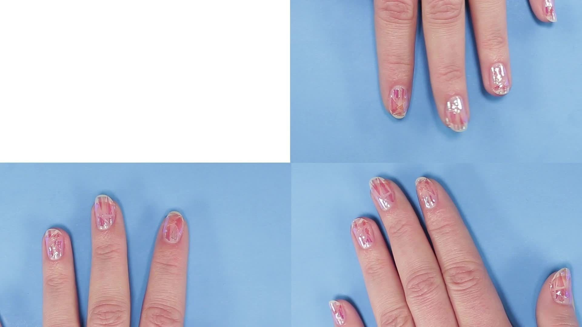 Elsa Approved Frozen Shattered Nail Art | TIPS | Disney Style